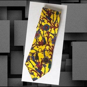 YSL Yves Saint Laurent Floral Tassel Print Tie